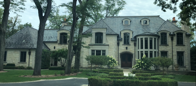multi level mansion in subrubs of chicago