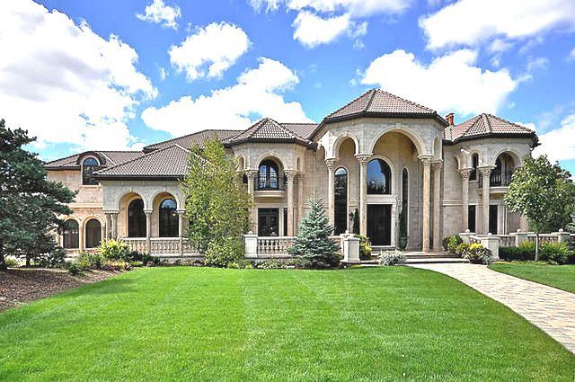 huge mansion in bannockburn illinois